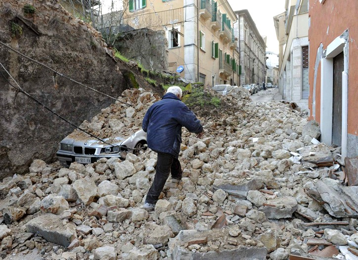 Officials said about 17,000 people were left homeless from the earthquake.