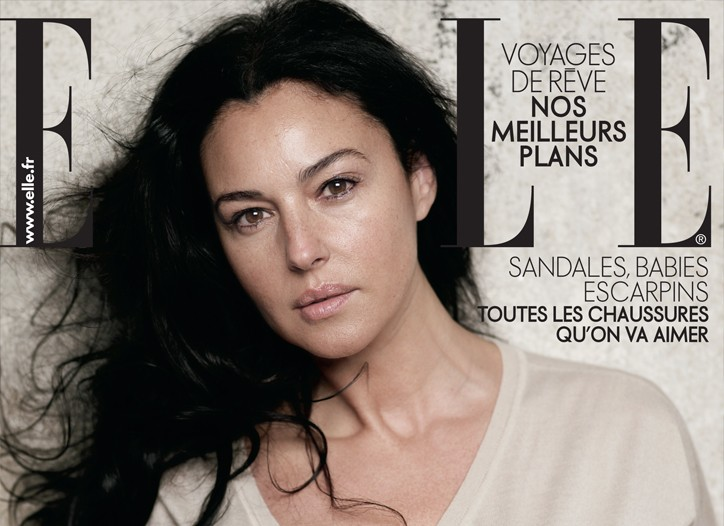 The French Elle cover featuring Monica Bellucci.