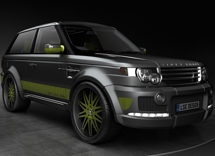 """Tiret's customized Range Rover dubbed """"The Coupe."""""""