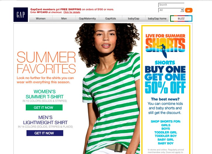 Athleta is now a member of Gap Inc.'s group of stores online.