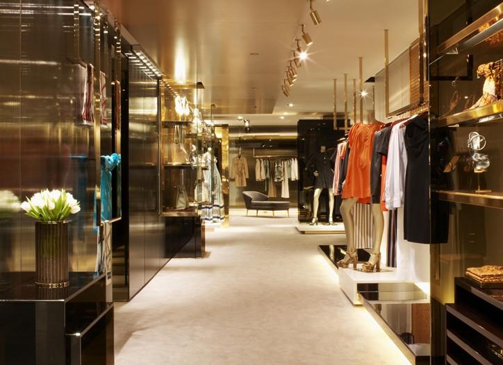 Inside Gucci's Sloane Street store.