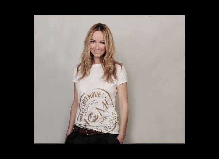"Frida Giannini wears Gucci's T-shirt for ""Home."""