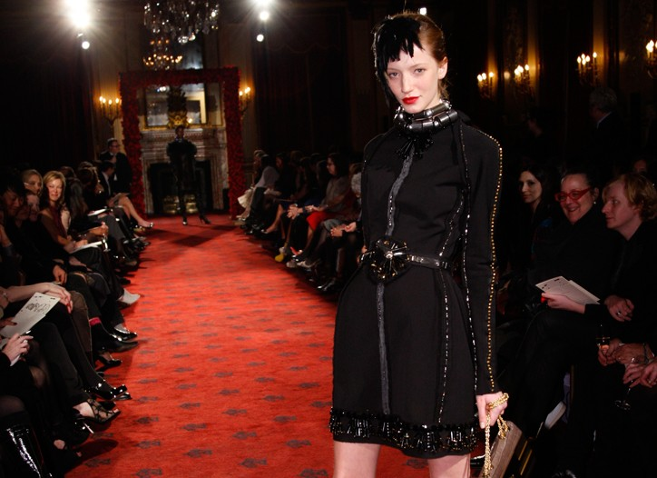A look from Lanvin's fall collection.