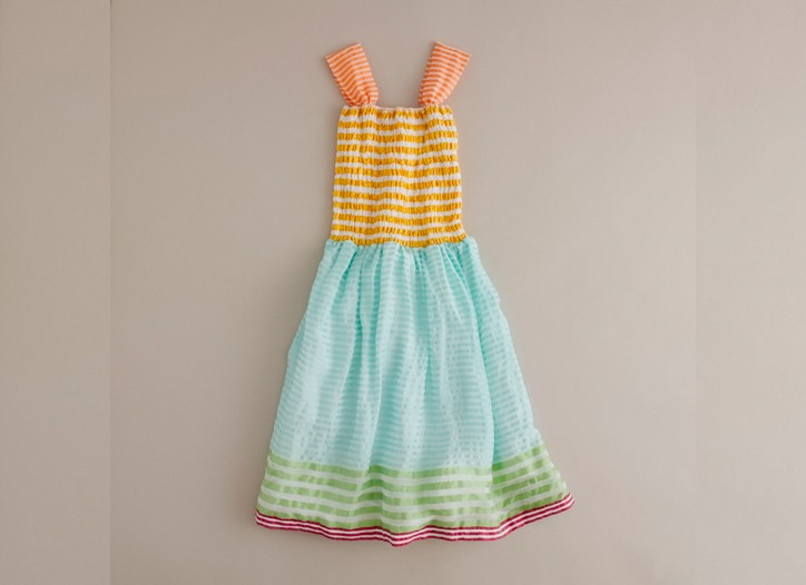 A LemLem with Crewcuts party dress.