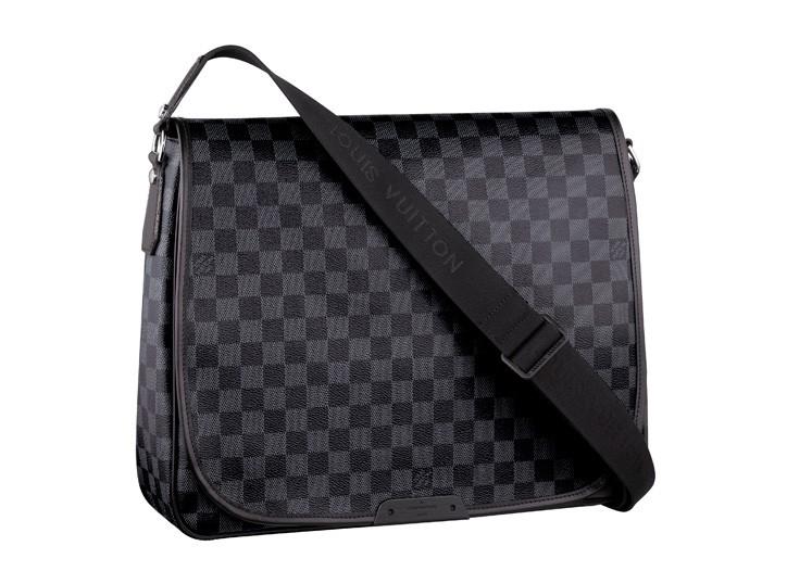 Vuitton's Renzo bag in Damier graphite.
