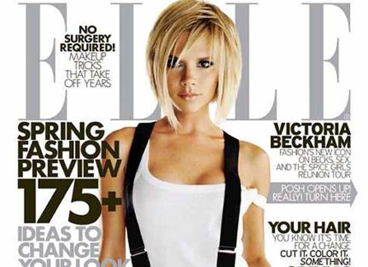 Victoria Beckham for Elle was one of the best-selling magazine covers of 2008.
