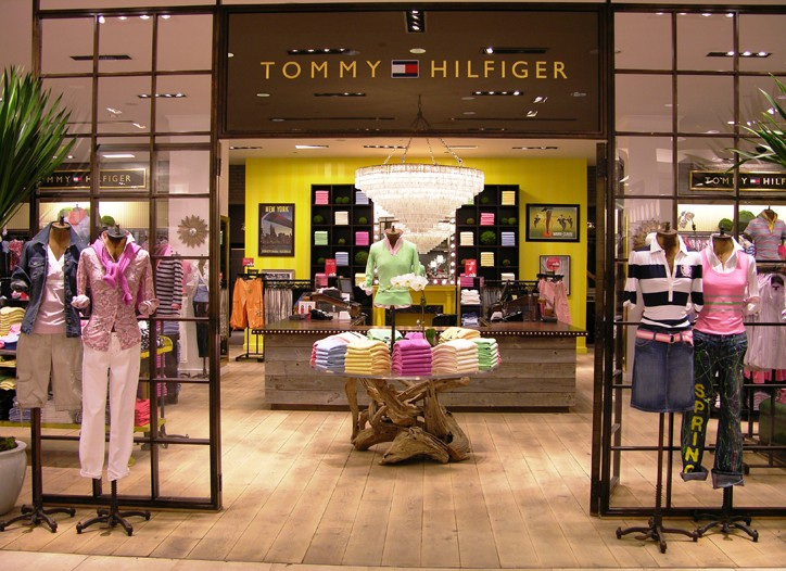 Tommy Hilfiger's upgraded shop-in-shop in Macy's.