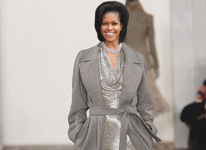 A Photoshopped image of Michelle Obama in a look from Ralph Lauren fall.