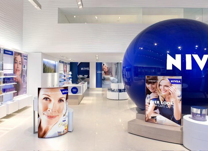 A look inside Nivea Haus in Berlin.