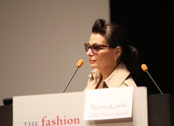 Norma Kamali at Fashion Group Foundation's trend panel.