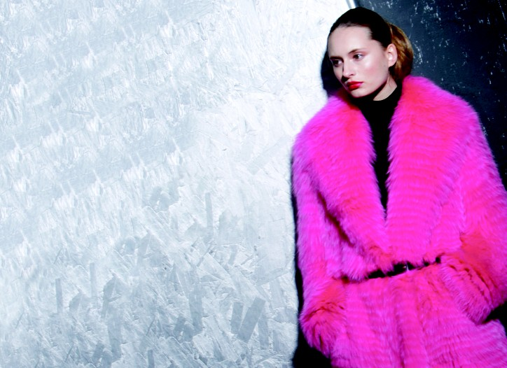 At the moment, fun, colorful, rich looks have even more appeal than straight-up luxe. Take furs, for instance, in all those easy shapes and brazen neon shades. Here, Michael Kors' shocking pink shredded fox coat worn with a Kors turtleneck and belt.