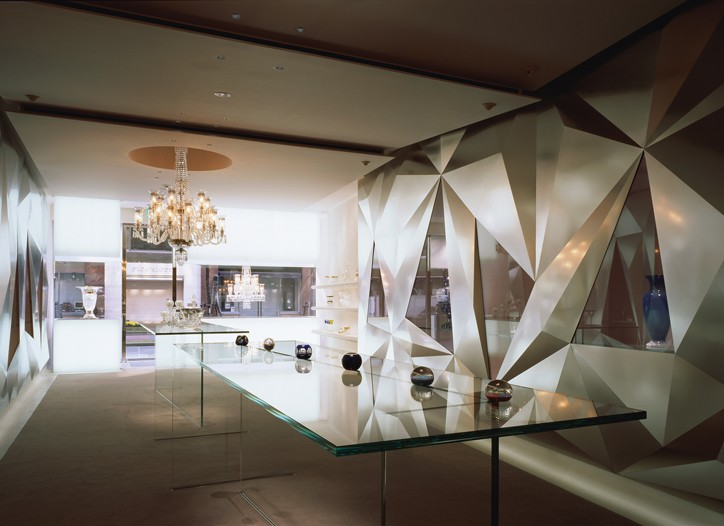 The Saint-Louis crystal shop in Tokyo.