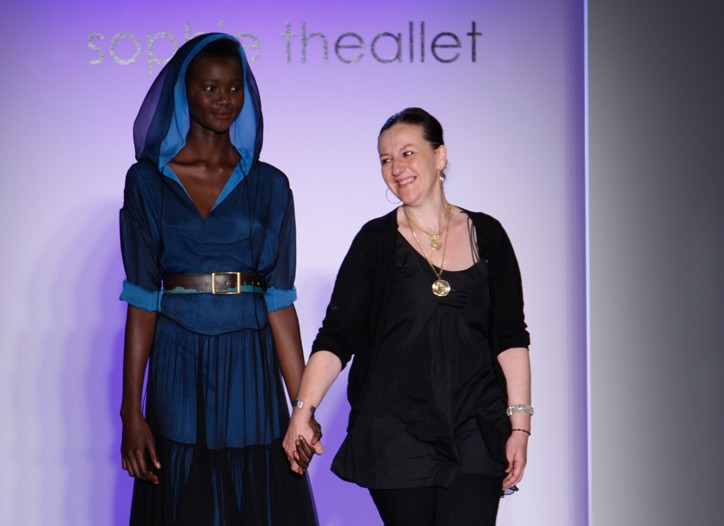 Model with Sophie Theallet at Theallet's spring 2009 show.