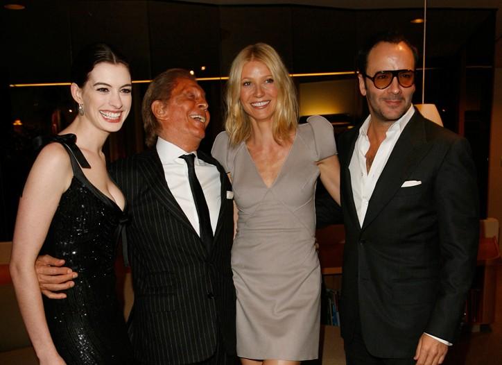 Anne Hathaway, Valentino, Gwyneth Paltrow and Tom Ford.