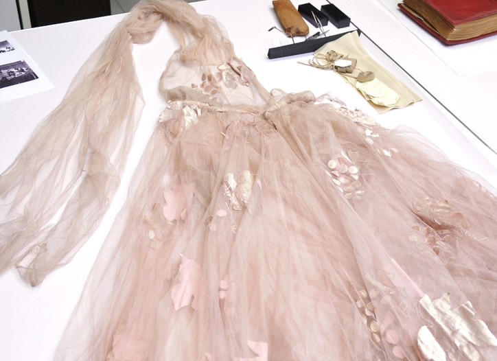 A tulle Vionnet gown in bad need of restoration