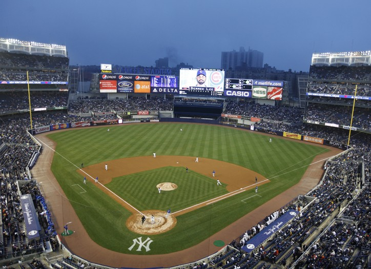 Companies that don't traditionally sponsor the MLB are partnering with the new Yankee stadium.