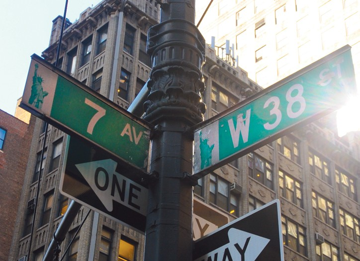 Seventh Avenue has become a melting pot of nationalities.