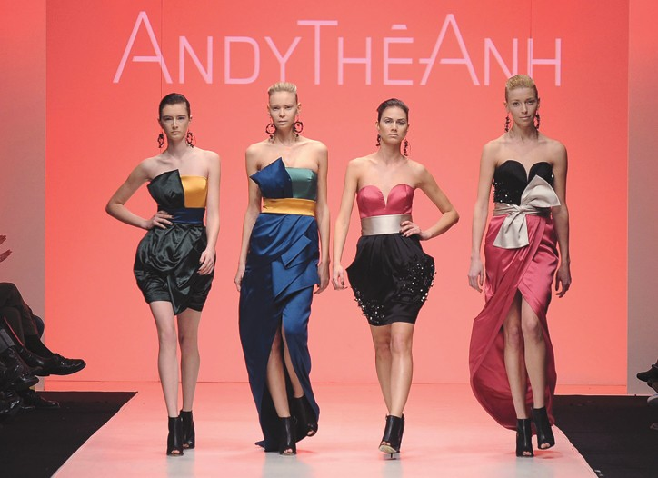 Looks from Andy Thê-Anh's runway show at the most recent LG Fashion Week.