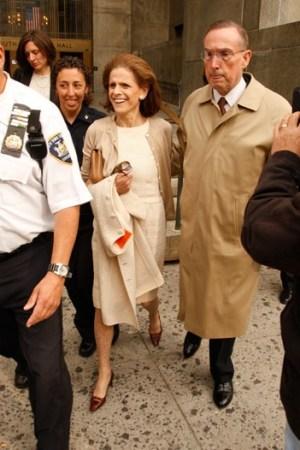 Annette de la Renta leaving court on Wednesday.