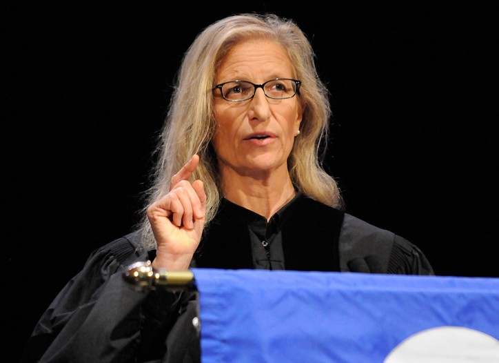 Annie Leibovitz at FIT's commencement.
