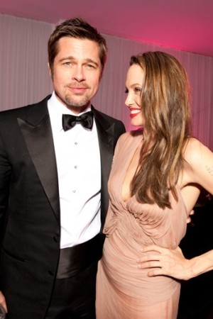 Brad Pitt and Angelina Jolie at the Belstaff Party in Cannes.