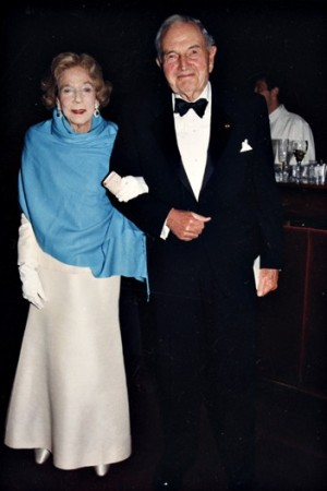 Brooke Astor and David Rockefeller in 2000.