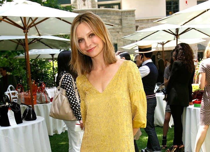 Calista Flockhart in Dries van Noten.