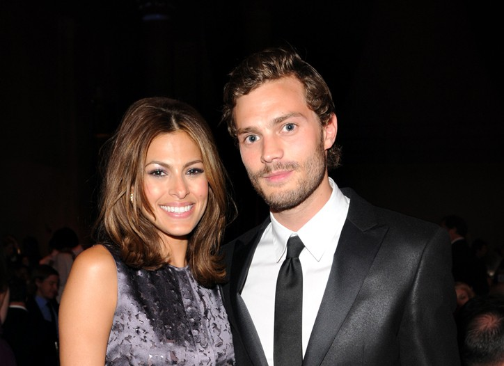 Eva Mendes and Jamie Dornan at last week's Parsons Fashion Benefit.