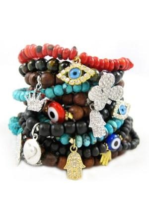Bracelets by Michelle Roy Designs.