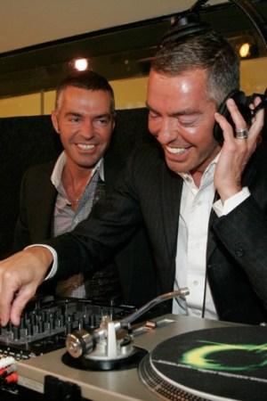 Dan and Dean Caten playing DJ at Sirius XM.