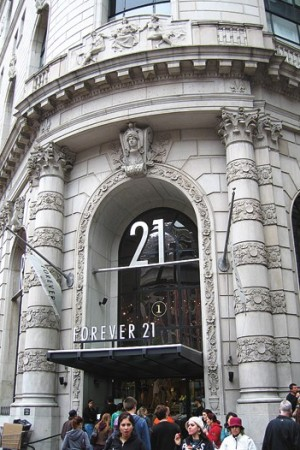 Forever 21 is looking to acquire 17 Gottschalks stores.