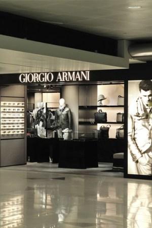 Giorgio Armani's boutique at Hong Kong International Airport.