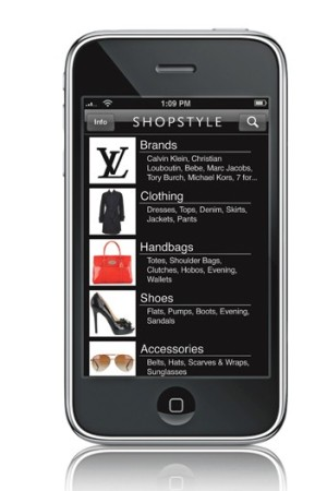 ShopStyle on the iPhone.