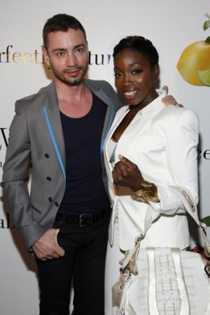 Jonathan Kelsey and Estelle at the Belvedere party.