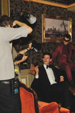 Shooting the Lanvin campaign.