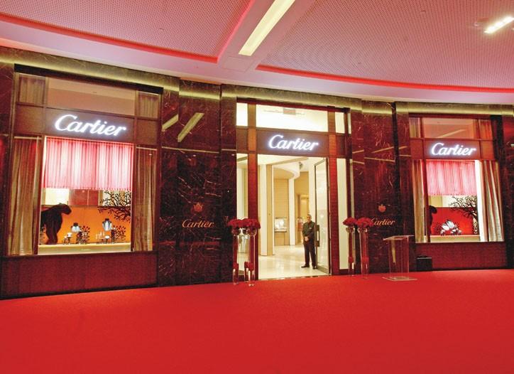 Cartier's store in Dubai.
