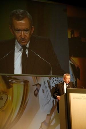 Bernard Arnault at the LVMH shareholders' meeting.
