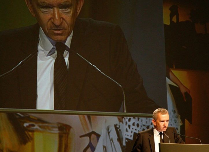 Bernard Arnault at the LVMH shareholders' meeting.