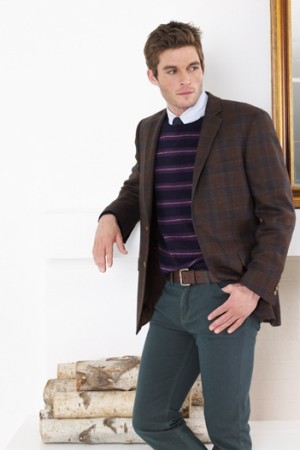 A look from Haspel's tailored clothing collection.