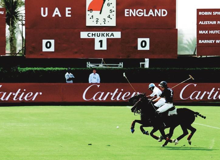 Polo competitors in Dubai.
