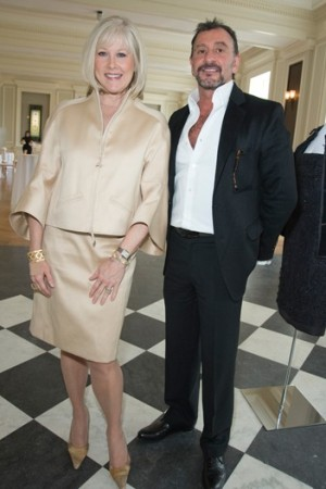 Noren Ungaretti, president, Costume Council of the Chicago Historical Society, and Ralph Rucci.