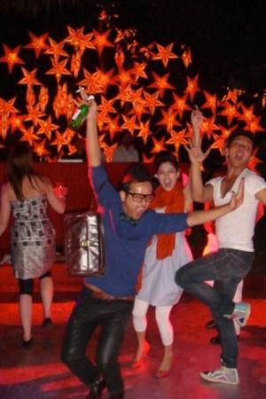 Prabal Gurung, far right, with friends.