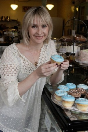 Rebecca Taylor with her cupcakes at Billy's Bakery.
