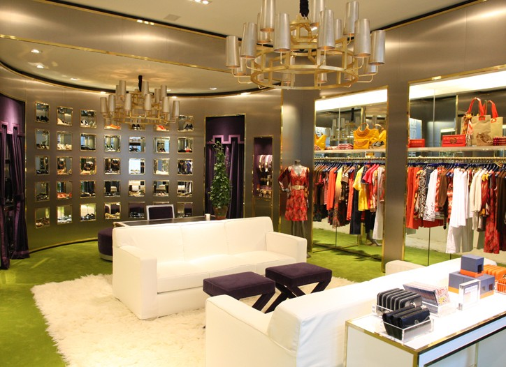 The new Tory Burch store is located in the Meatpacking District.