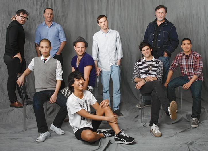 Clockwise from left: Tim Hamilton, Alejandro Ingelmo, Patrik  Ervell,Albertus Q. Swanepoel, Thakoon Panichgul, Justin Giunta, Alexander Wang, Robert Geller, Jason Wu