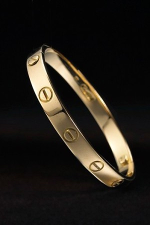 The Cartier Love Bracelet.