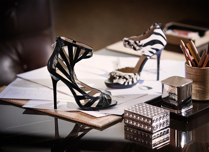 Shoes from the H&M and Jimmy Choo collection