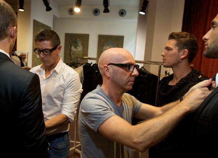 Stefano Gabbana and Domenico Dolce get set for Milan Fashion Week.