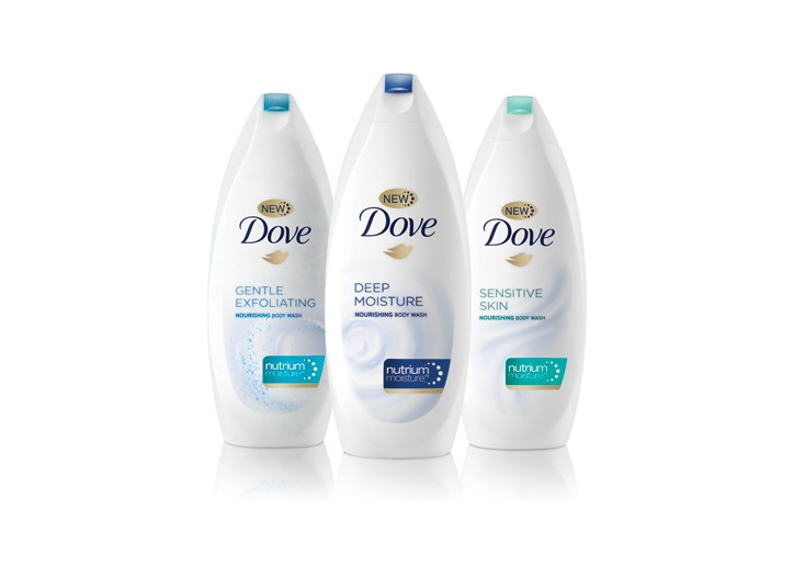 Dove Body Washes with NutriumMoisture.