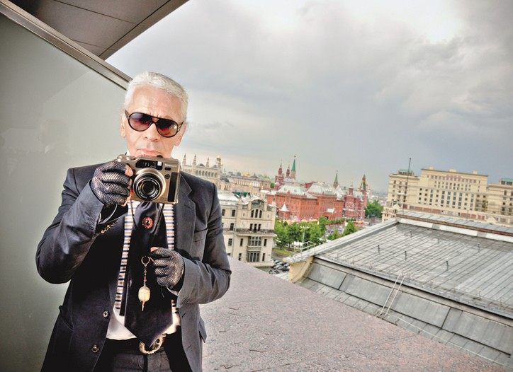 Karl Lagerfeld snaps Moscow.